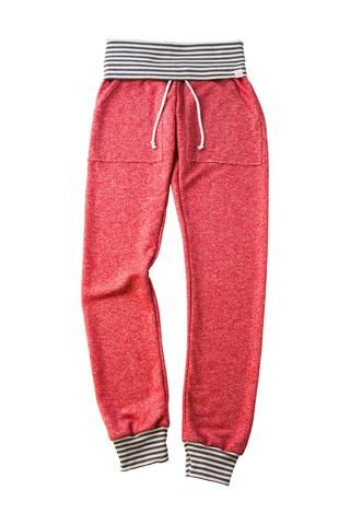 Adult Size Red And Grey Stripes Skinny Sweats