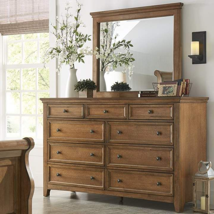 Three Posts Woodside 9 Drawer Dresser With Mirror Dresser Top Decor Dresser Decor Bedroom Dresser With Mirror