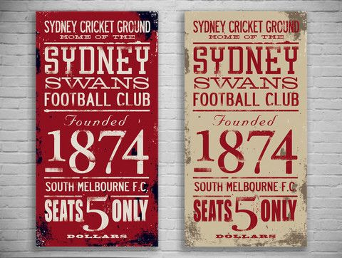 Sydney Swans Turnstyle Canvas Print - The Turnstyle Print Company