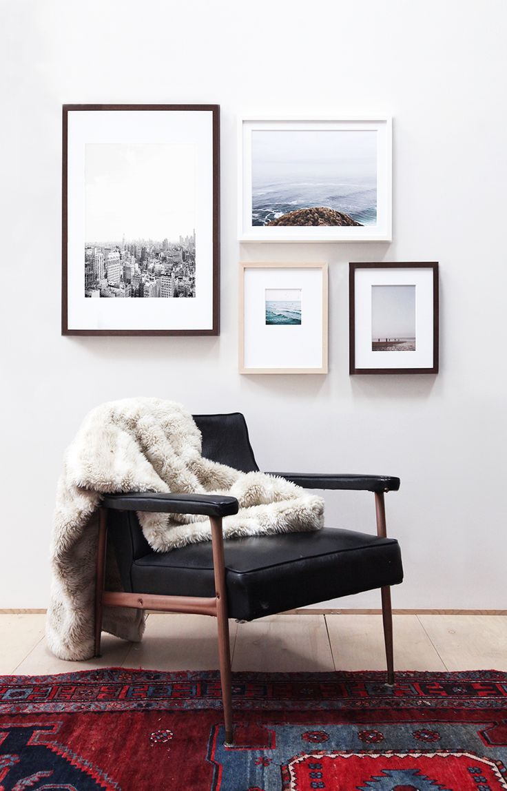 Add Texture To A Wood Framed Chair With Cosy Throw