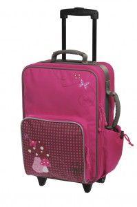 Lässig Kinder Trolley Reisetasche Koffer 4Kids Mushroom magenta pink