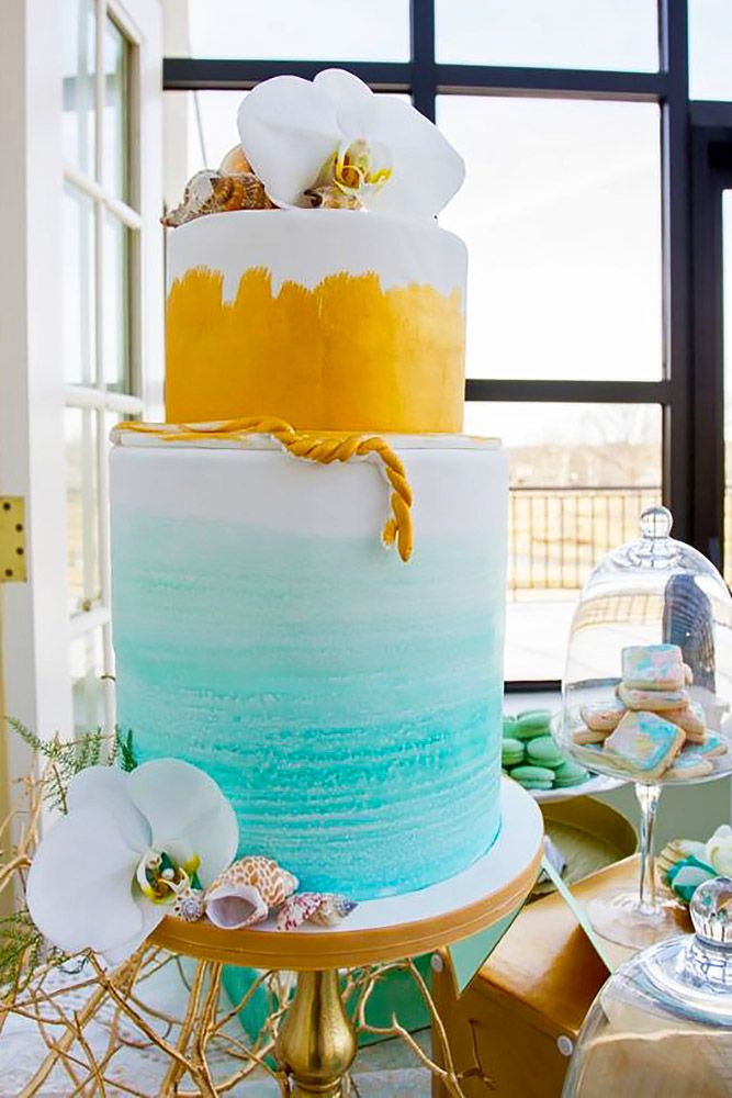 18 Tropical Wedding Cakes That Wow ❤ See more: http://www.weddingforward.com/tropical-wedding-cakes/ #weddings #cakes