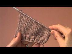 Knit - Faça pontos sem efeito de escada - YouTube
