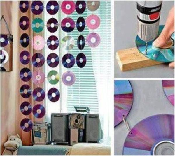 Use CD's to Make An Original Decoration - Find Fun Art Projects to Do at Home and Arts and Crafts Ideas