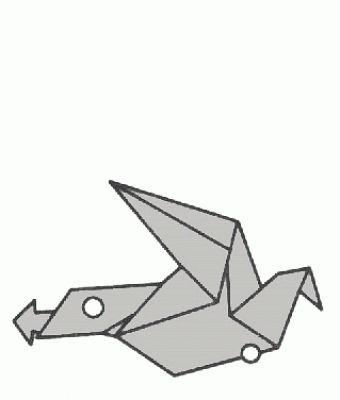 Schemi di origami - Uccelli (Flying Bird)