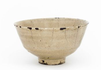 Korean food-bowl, adapted in Japan as a tea bowl (as evidenced by the gold lacquer repairs). 16th century.  Freer museum of Asian art, acc. no. F1898.83