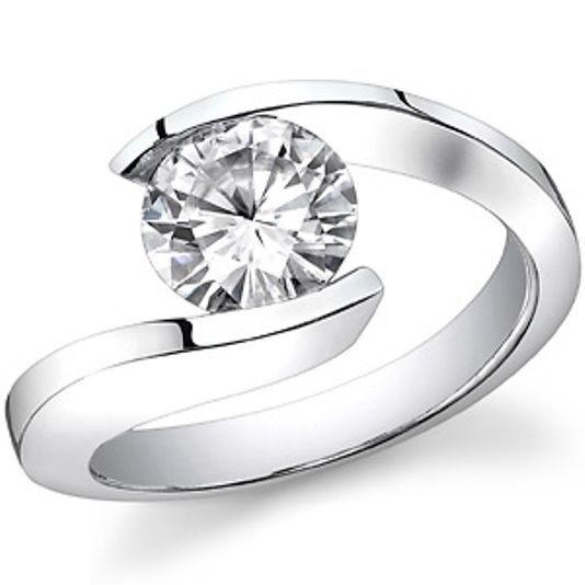 Certified Engagement Ring Round Cut 1.05Ct Diamond 14K White Gold Bridal jewelry #discoverdiamonds #Engagement