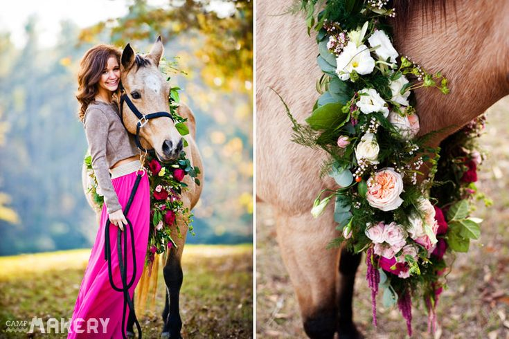 DIY: Horse Flower Garland | Camp Makery