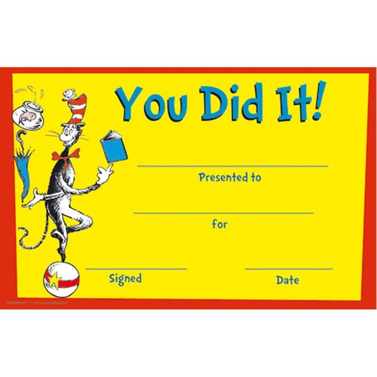 Cat In The Hat™ You Did It! Awards