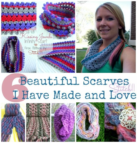 Six Beautiful Scarves I have made and love on Stitch11! #crochet