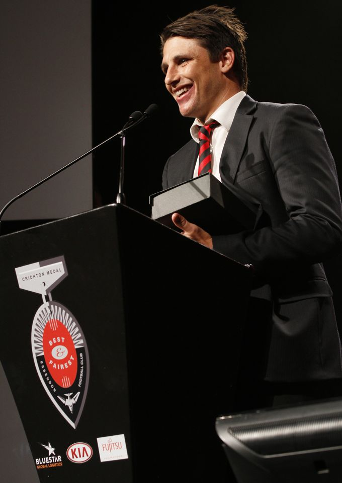 Baggers a very deserving recipient of the 'Most Courageous Player' Award at the #CrichtonMedal