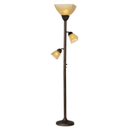 Champagne Glass Torchiere Floor Lamp