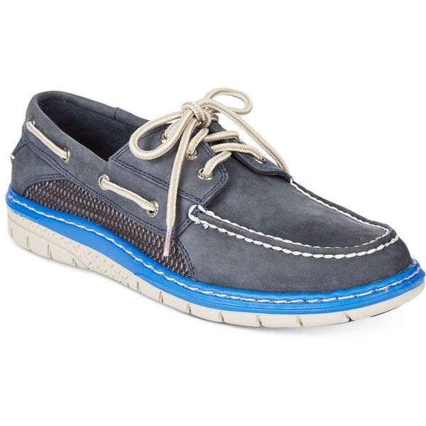 Sperry Men's Billfish Ultralite Boat Shoes ($110) ❤ liked on Polyvore featuring men's fashion, men's shoes, men's loafers, mens boat shoes, mens deck shoes, mens sperry topsiders, mens topsiders and sperry mens shoes