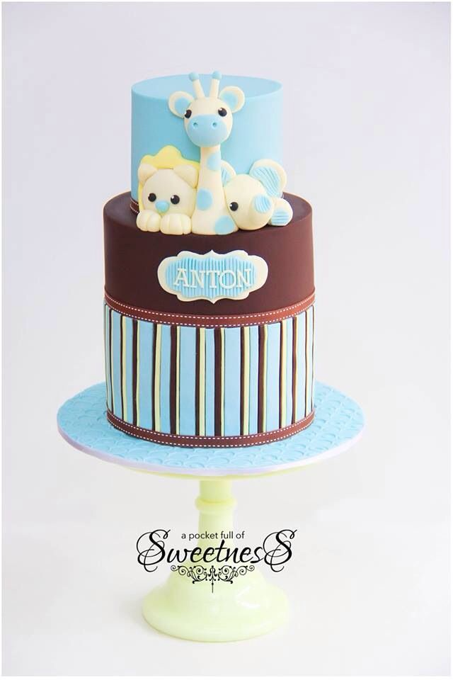 Cute safari cake
