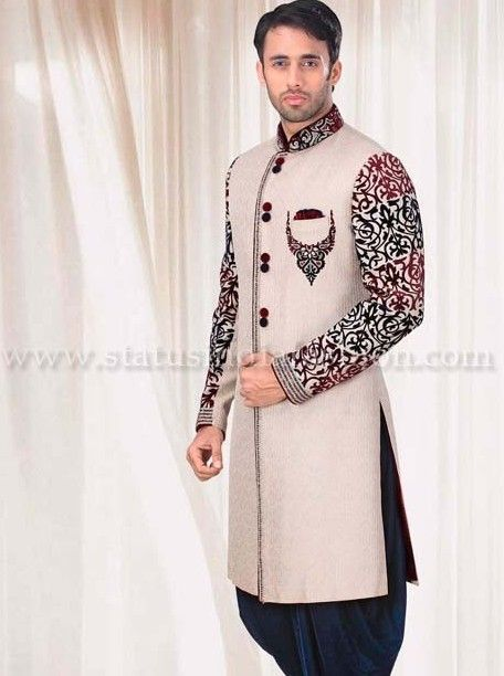 549 best images about indian groom on pinterest for Indo western wedding dress for men