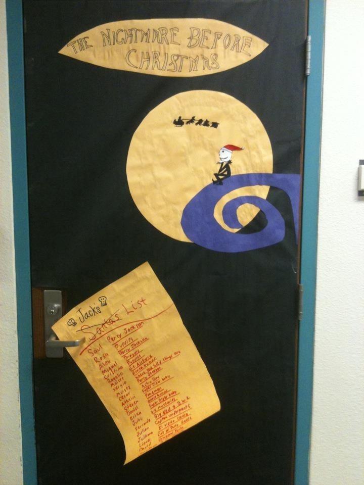 My Nightmare Before Christmas Classroom Door School