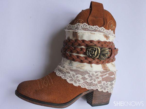 DIY Bohemian Clothing | more crafts diy glittery heels diy starfish cuff bracelet 3