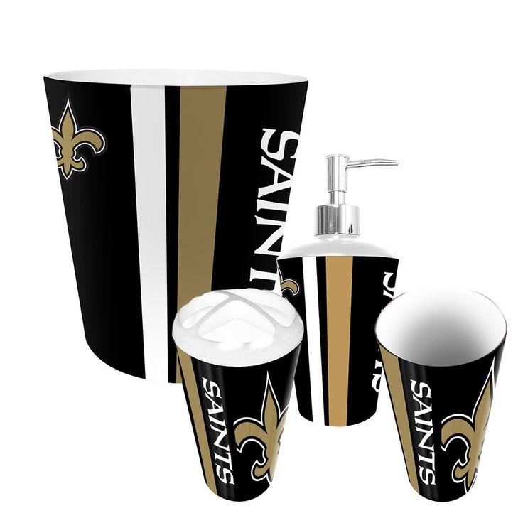 new orleans saints complete bathroom accessories 4pc set