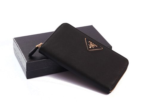 Prada 1M0506 Black Long Wallets Size(WxHxD): 19 x 2 x 9 cm Prada ...