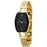 Anne Klein Women's 108030BKGB Diamond Accented Gold-Tone Watch with a Black Dial (Watch)By Anne Klein