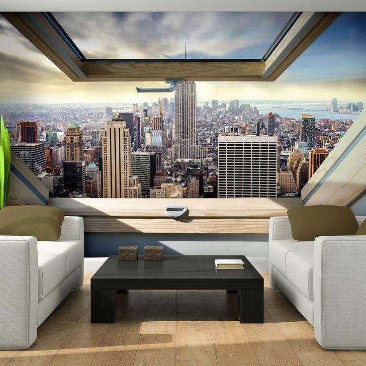 Die besten 25+ New york tapete Ideen auf Pinterest Fototapete - fototapete wohnzimmer braun