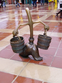 """Can I have this at my house? ~ bronze enchanted broomstick statue (from Disney's epic """"Fantasia"""")"""