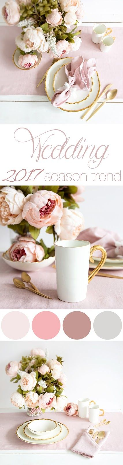BLUSH PINK IS 2017 WEDDING COLOR TREND Read more...  #blush #napkins #table #decor #wedding #trends