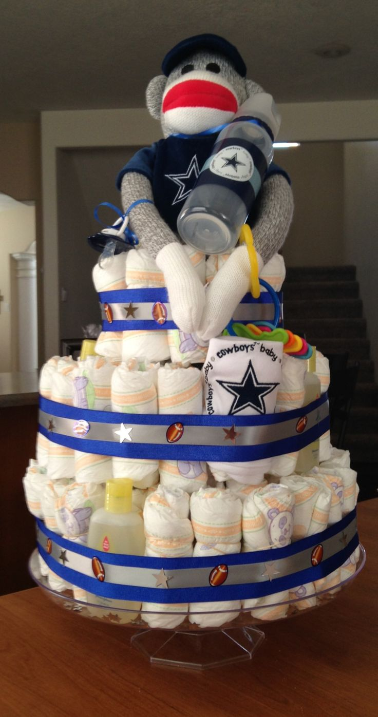 dallas cowboys diaper cake baby shower ideas pinterest