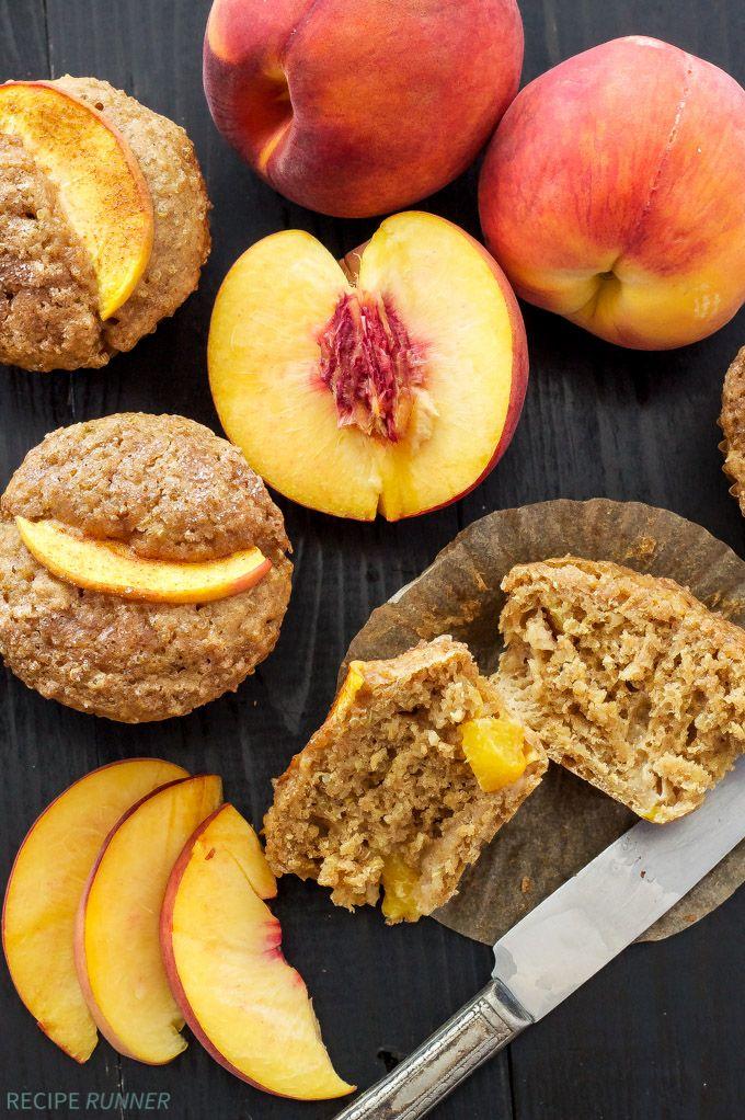Peach Quinoa Muffins   Fresh peaches taste so good in these healthy protein packed quinoa muffins!
