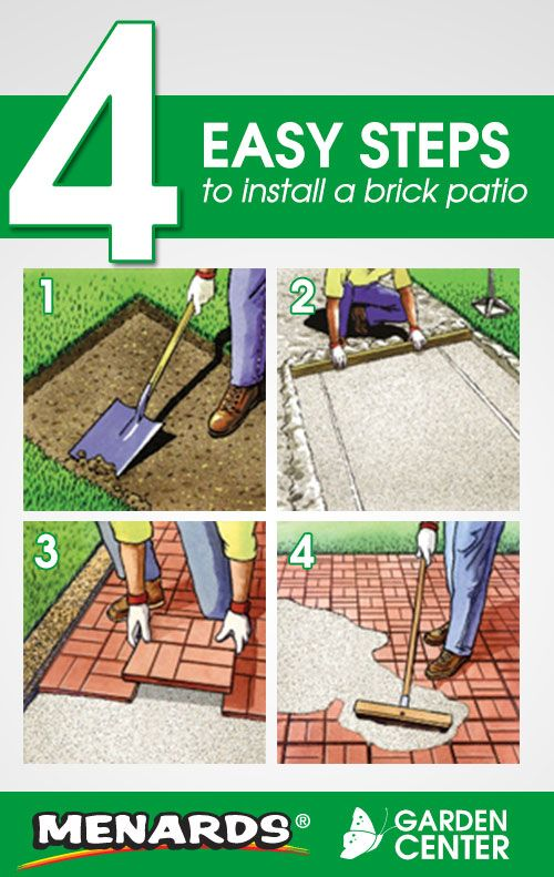 4 Easy Steps To Install A Brick Patio From The Menards Garden Center Read Full Article Http Www Menards Com Main C 10051 Htm Utm Source