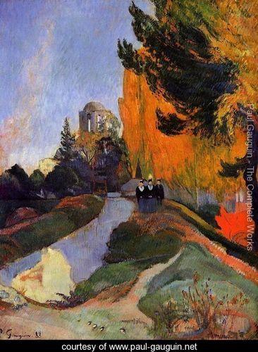 Les Alychamps - Paul Gauguin -
