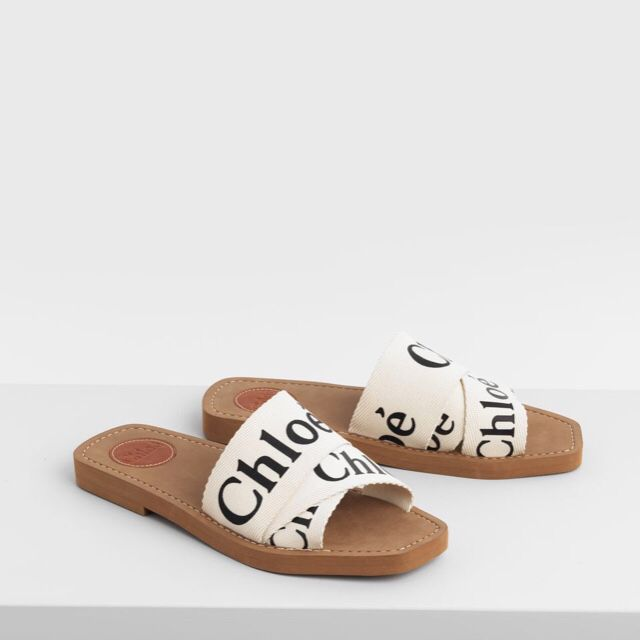 8135ee1140 FrenchEconomie™️ Women's Shoes Spring 2019: Chloé White Woody Flat ...