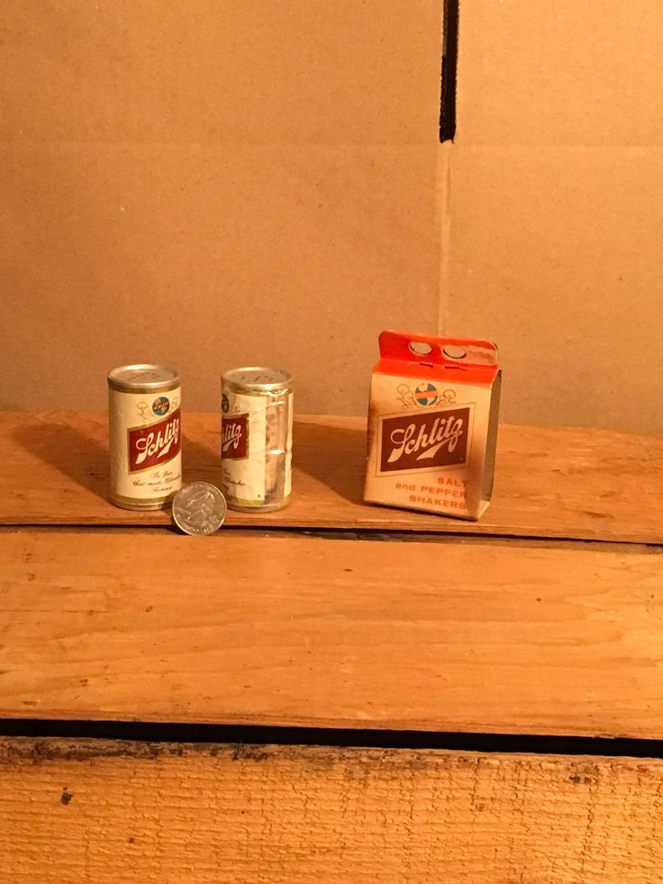 A personal favorite from my Etsy shop https://www.etsy.com/listing/545812572/vintage-1961-schlitz-beer-can-salt