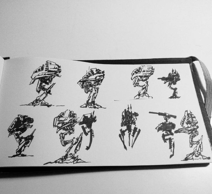 Coffee time sketching!!  Let's make some mechs  .  .  .  #drawingoftheday #drawing #sketch #sketching #sketchbook #sakura #mech #scifi #scifiart #concept #conceptart #silhouette #thumbnails #gamedeveloper #gamedev #gameart #gameartist #game #games...