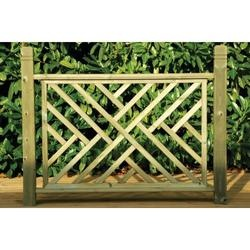 Contemporary Wooden Deck Panel 35 x 760 x 1130mm - Railing Kits & Deck Panels - Decking -Gardens - Wickes