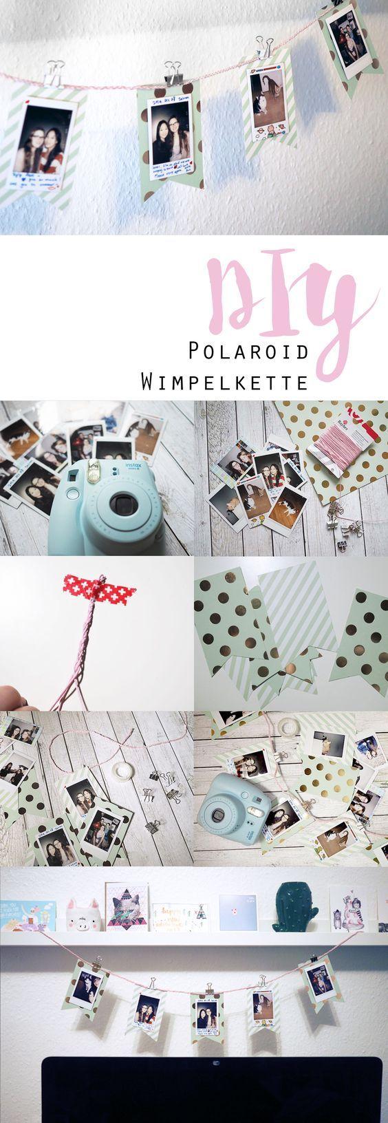 DIY ~ Polaroid Wimpelkette – Nadine