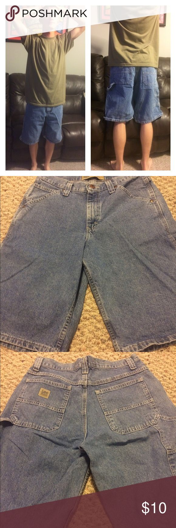 Men's Lee shorts Men's carpenter lee dungarees shorts. In good condition. No stains rips or frays. Lee Shorts Jean Shorts