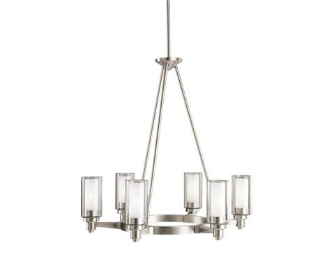 Dining Room | Circilo 6 Light Chandelier in Brushed Nickel | KICHLER