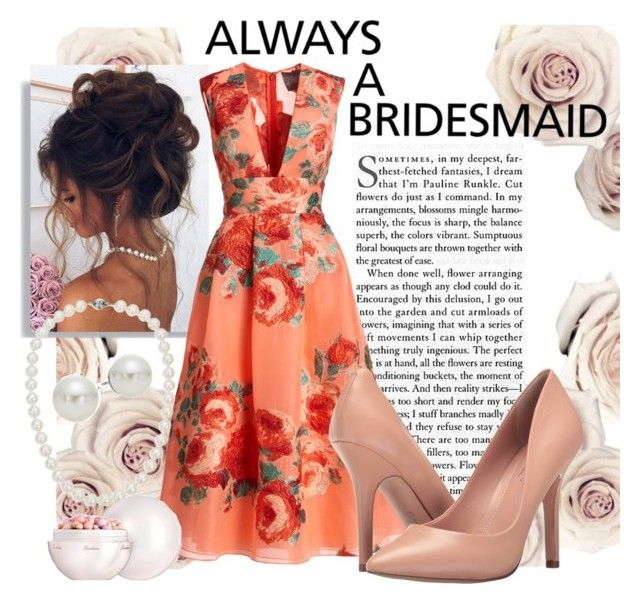 """""""....But never the bride"""" by catherine-megan-jones on Polyvore featuring Lela Rose, Charles by Charles David, AK Anne Klein, Blue Nile and Guerlain"""