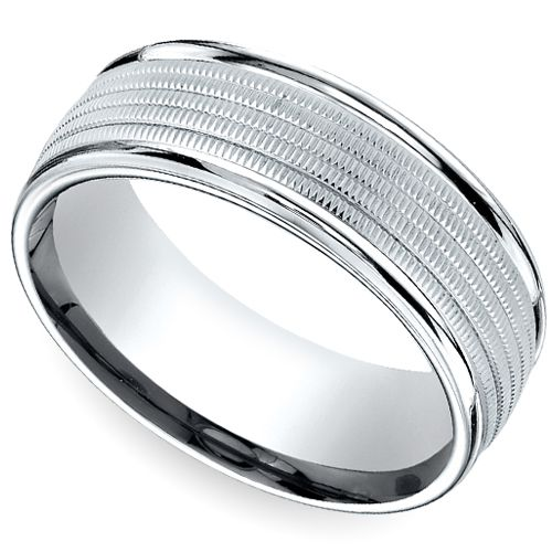 A gorgeous marriage of comfort and style... The Multi Milgrain Men's Wedding Ring in Platinum. http://blog.brilliance.com/2013/multi-milgrain-mens-wedding-ring