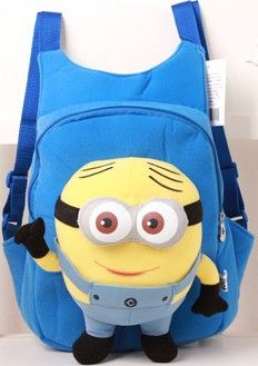 Children's 3D Plush Minion Character Lightweight Backpack 8 Colors