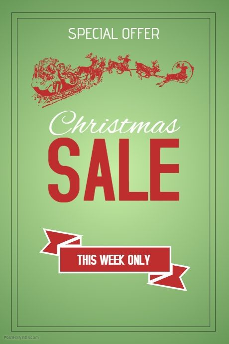 27 best Christmas Retail Poster Templates images on Pinterest - for sale template free