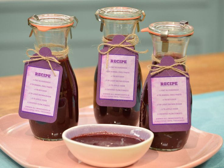 Sunny's Blueberry BBQ Sauce recipe from Sunny Anderson via Food Network