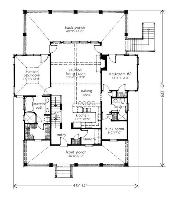 yellow jacket creek main floor plan lake house vacation house