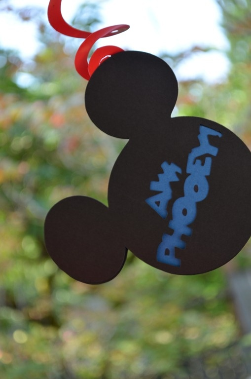 Mickey Mouse Birthday Party - Hanging Mouse Ears Decor
