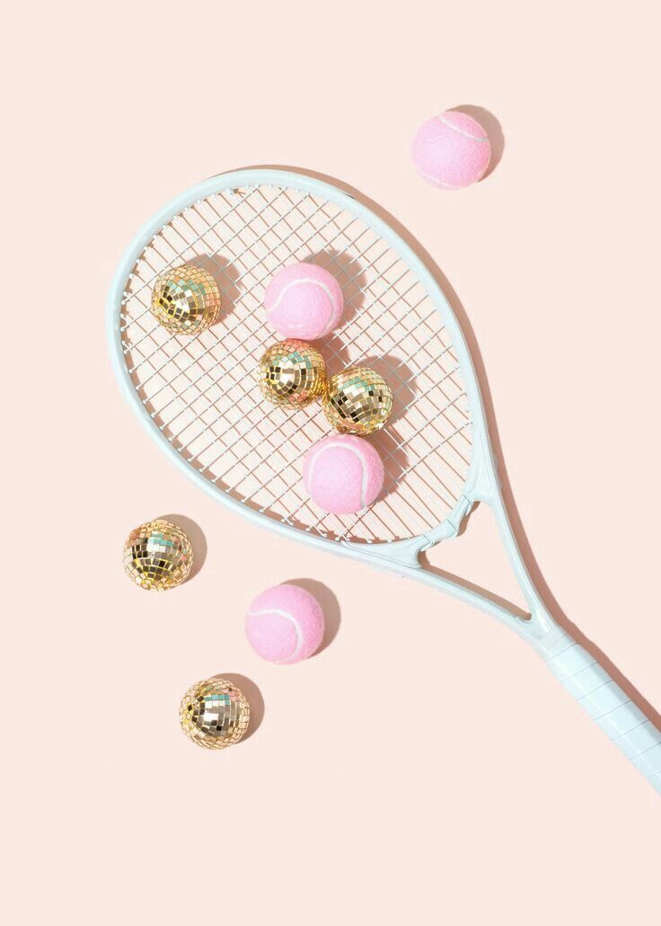 Pin By Mom Manager Club On Con Gai Art Tennis Wallpaper Pink Aesthetic Pastel Aesthetic