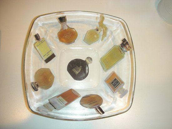 Decoupage on glass