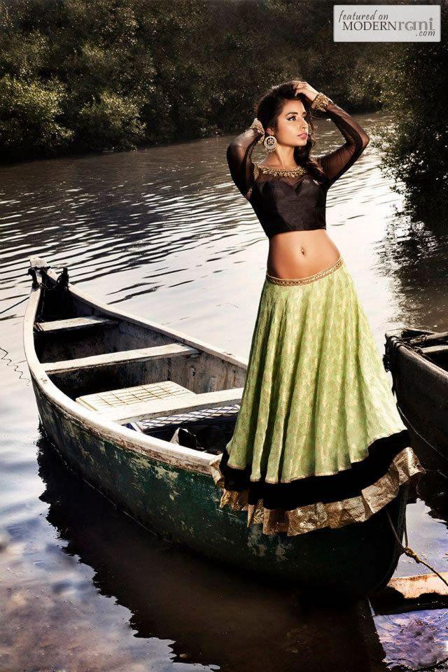 Bridal Indian Reception Lengha - more inspiration @ http://www.ModernRani.com