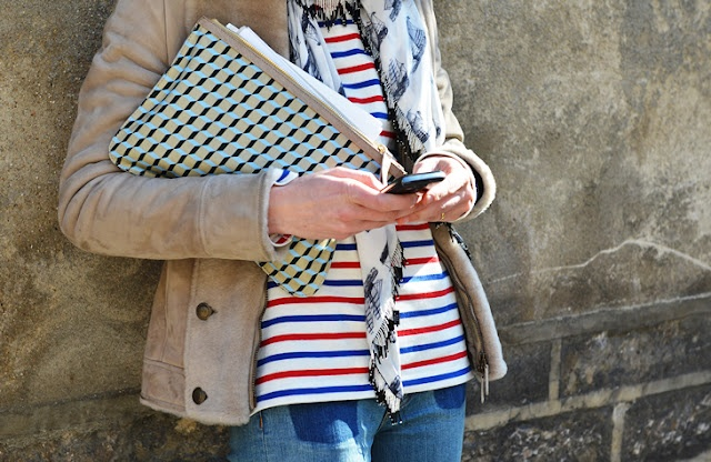 this works!: Urban Style, Mixed Patterns, Clutches, Fall Autumn, Stripes Shirts, Blue Shirts, Mixed Prints, Graphics, Rocks Rolls