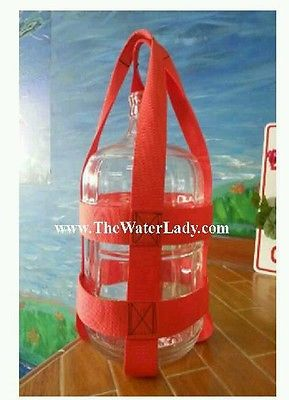 3 Gallon Water Bottle Strap Carrier  BOTTLE NOT INCLUDED many colors avail